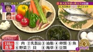ミス日本 9品目ダイエット